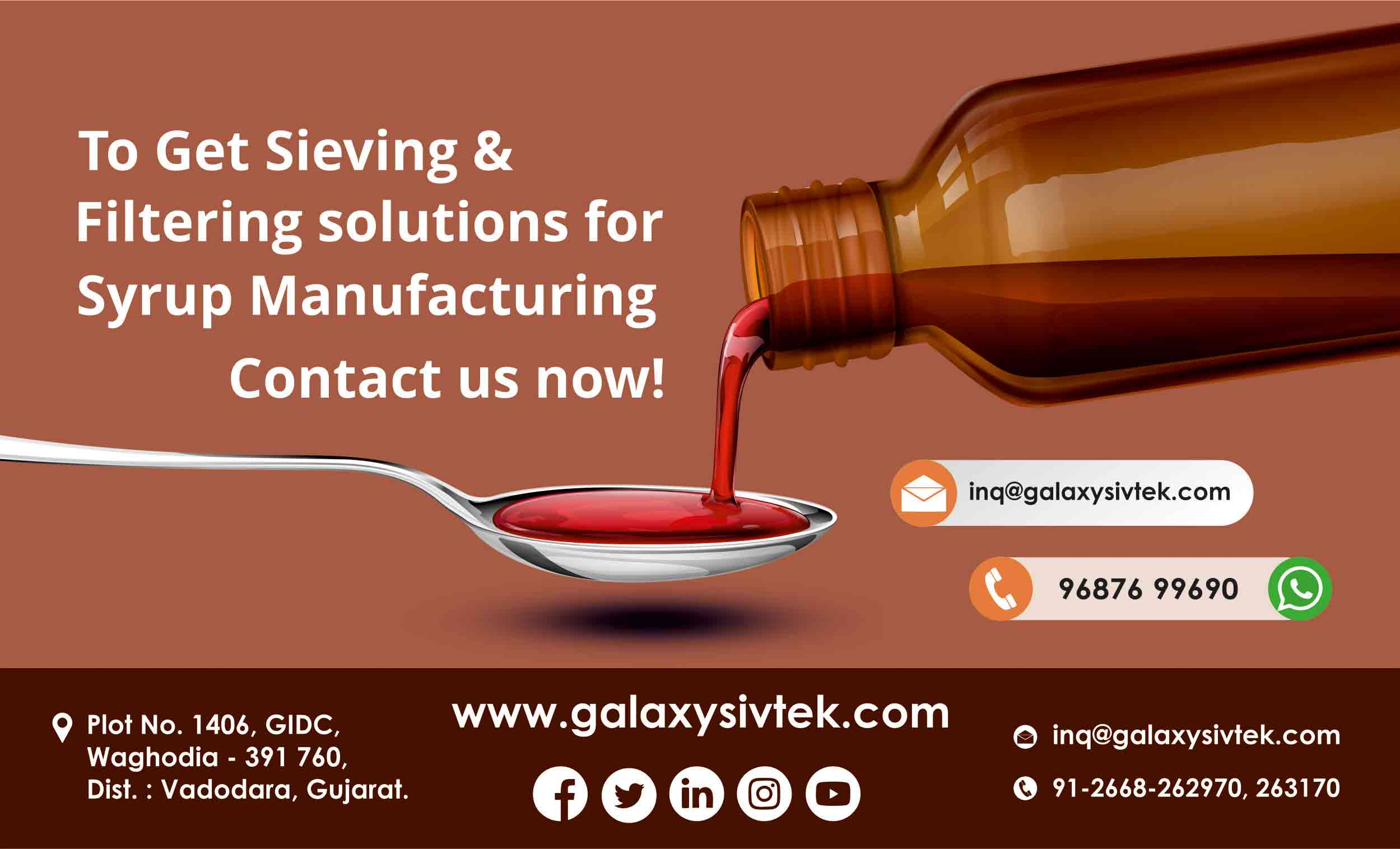contact for liquid syrup filtration