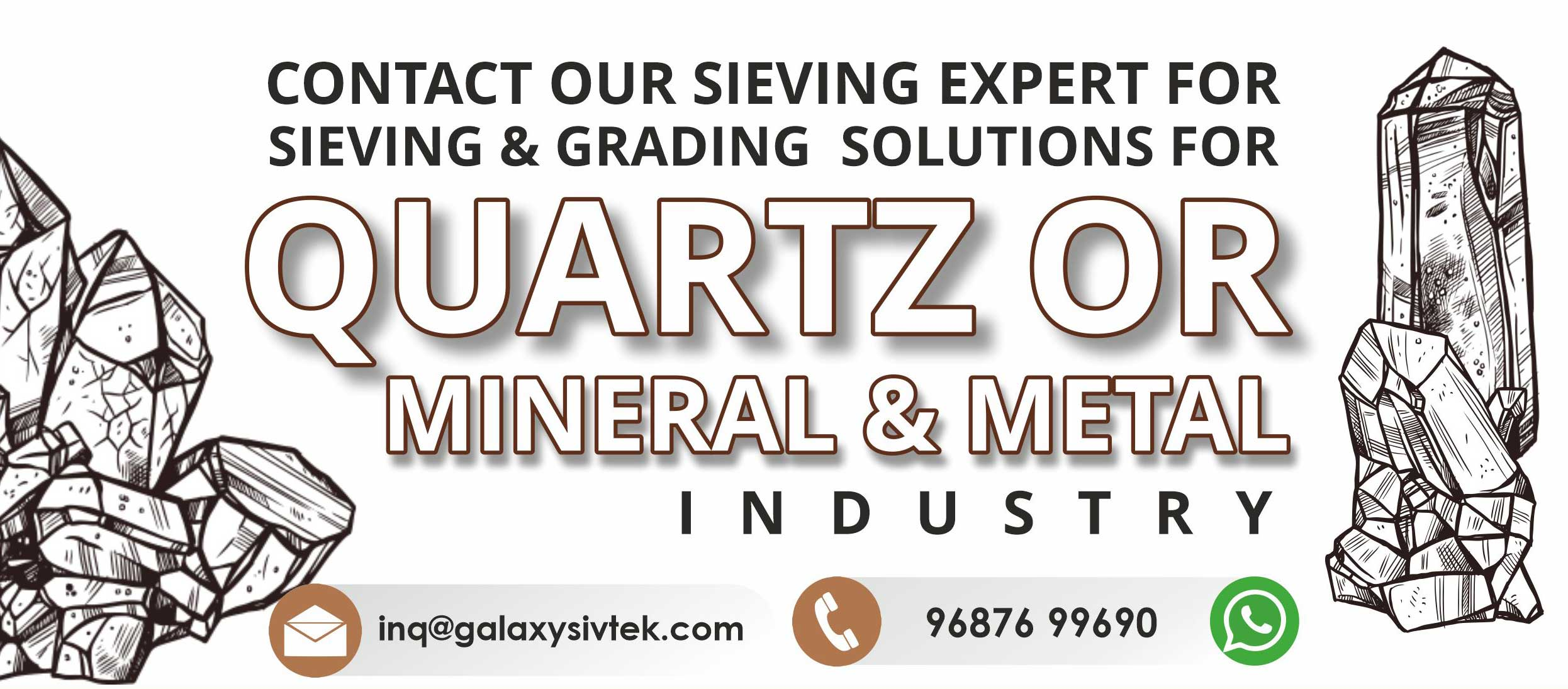 Contact us for quartz sieving and sorting solution