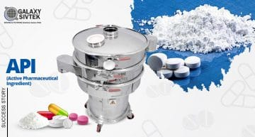 active pharmaceutical ingredient sieving