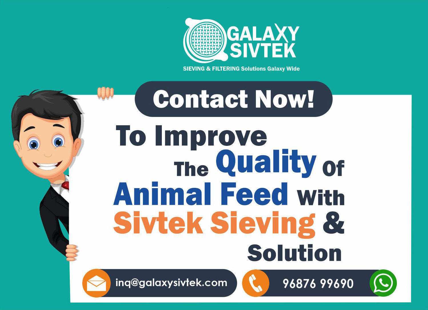 Sieving Animal Feed - Contact us