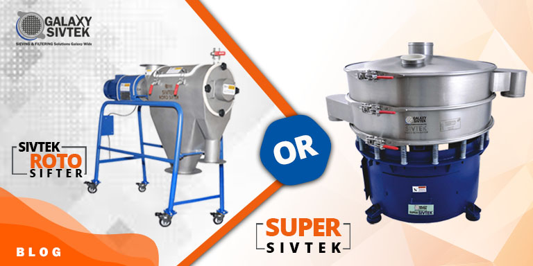 Choose between rotary sifter & round vibrating separators