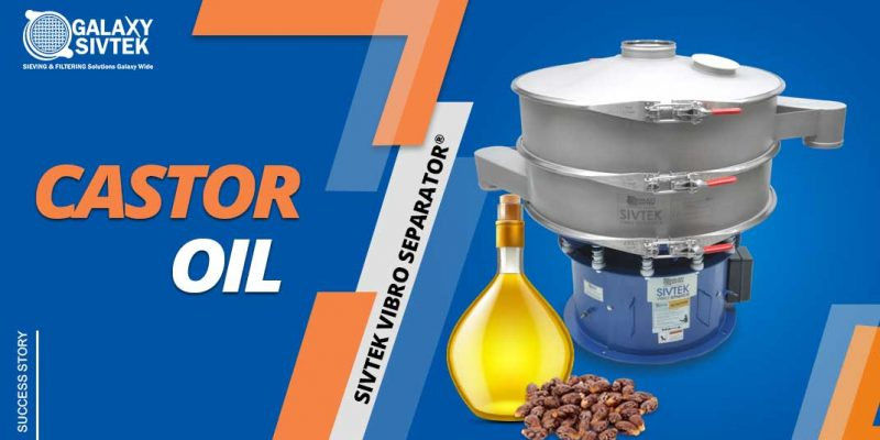 Castor oil filtration with vibro separator