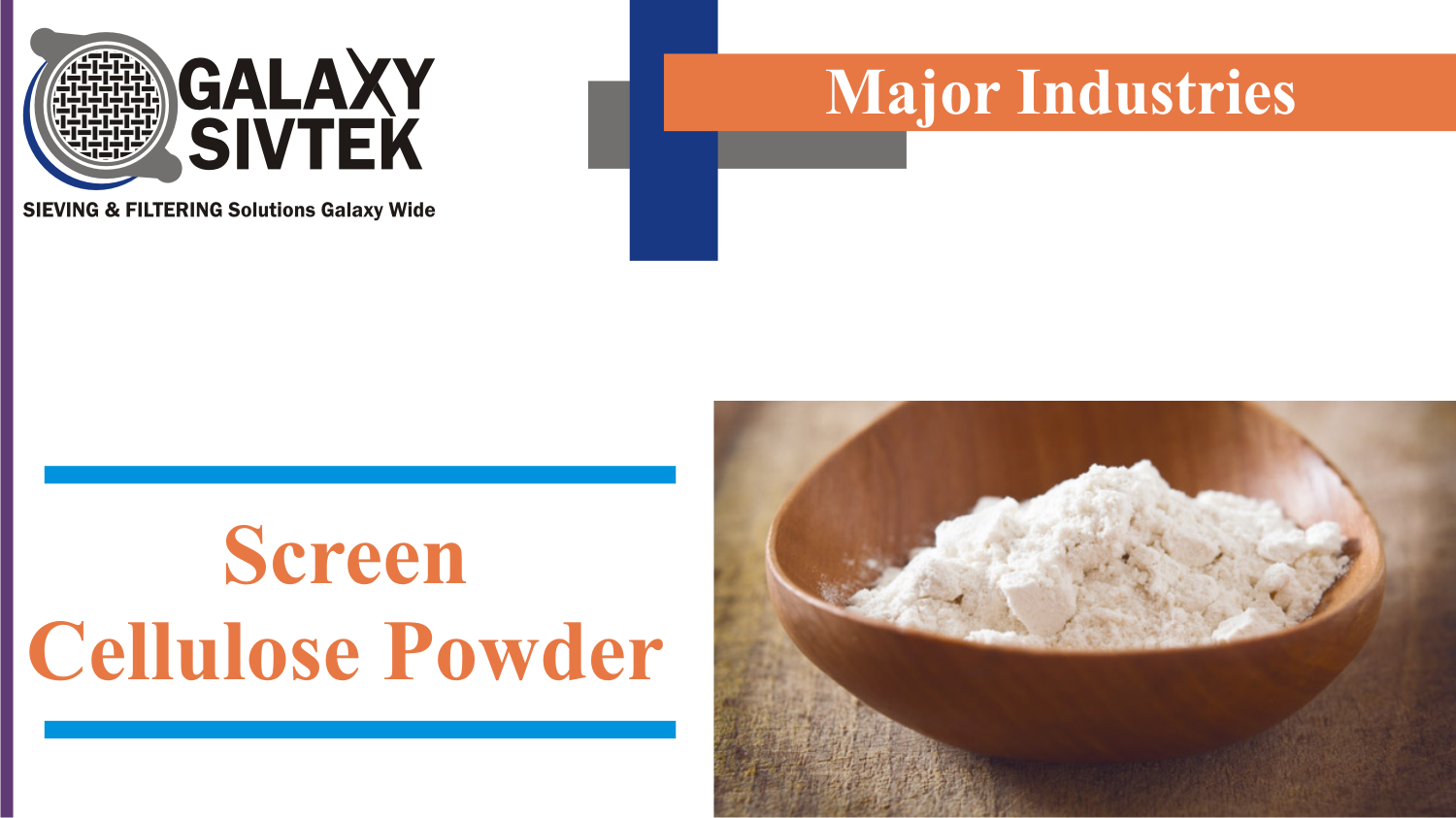 Screen Cellulose Powder with Vibrasonic Deblinding System | Galaxy Sivtek