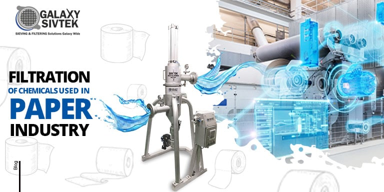 Filtration of chemical in paper industry