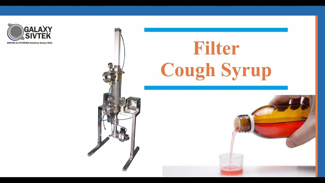 SIVTEK Self Cleaning Filter for cough Syrup Application