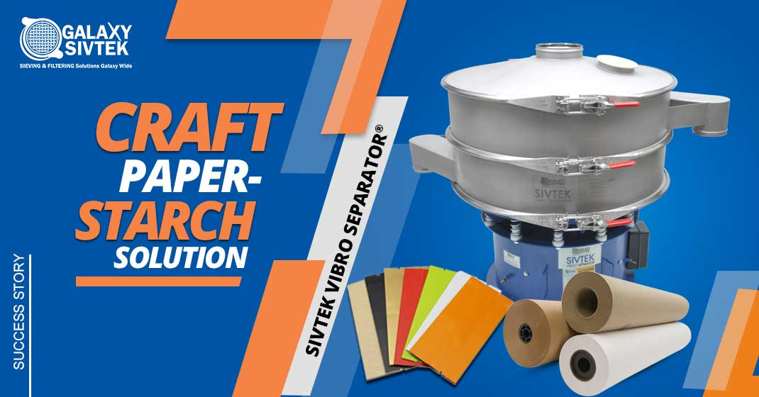 paper pulp recovery with vibro separator
