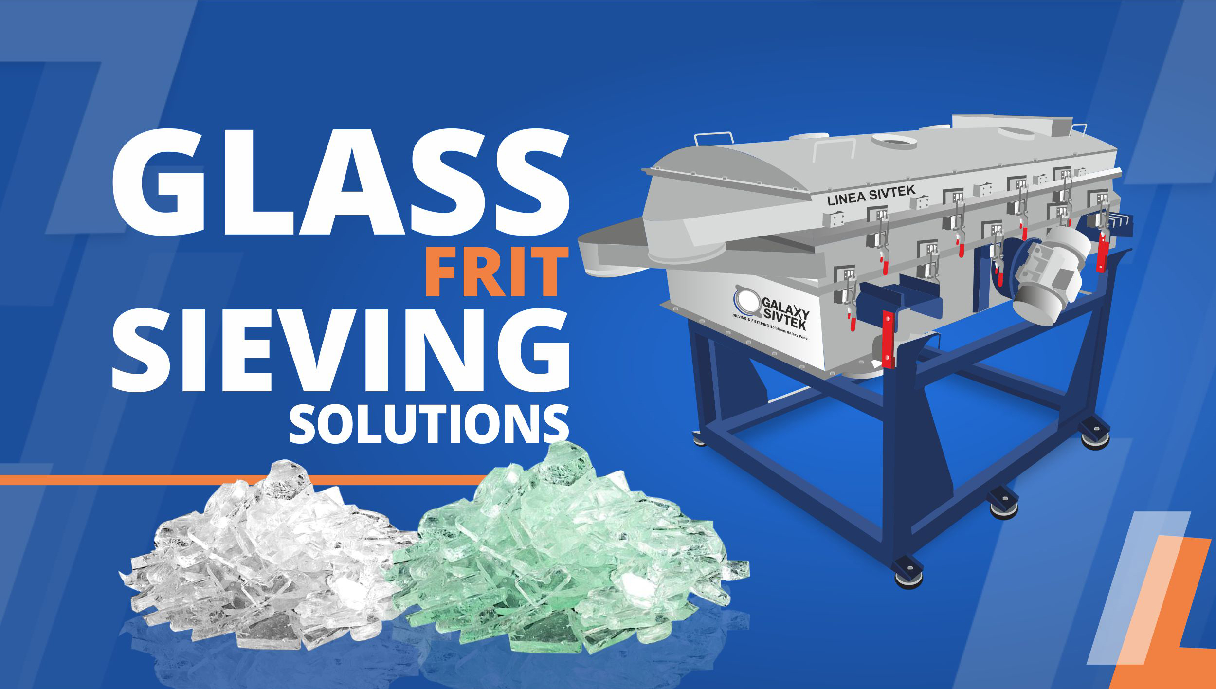 Screening and sieving solutions for glass frit