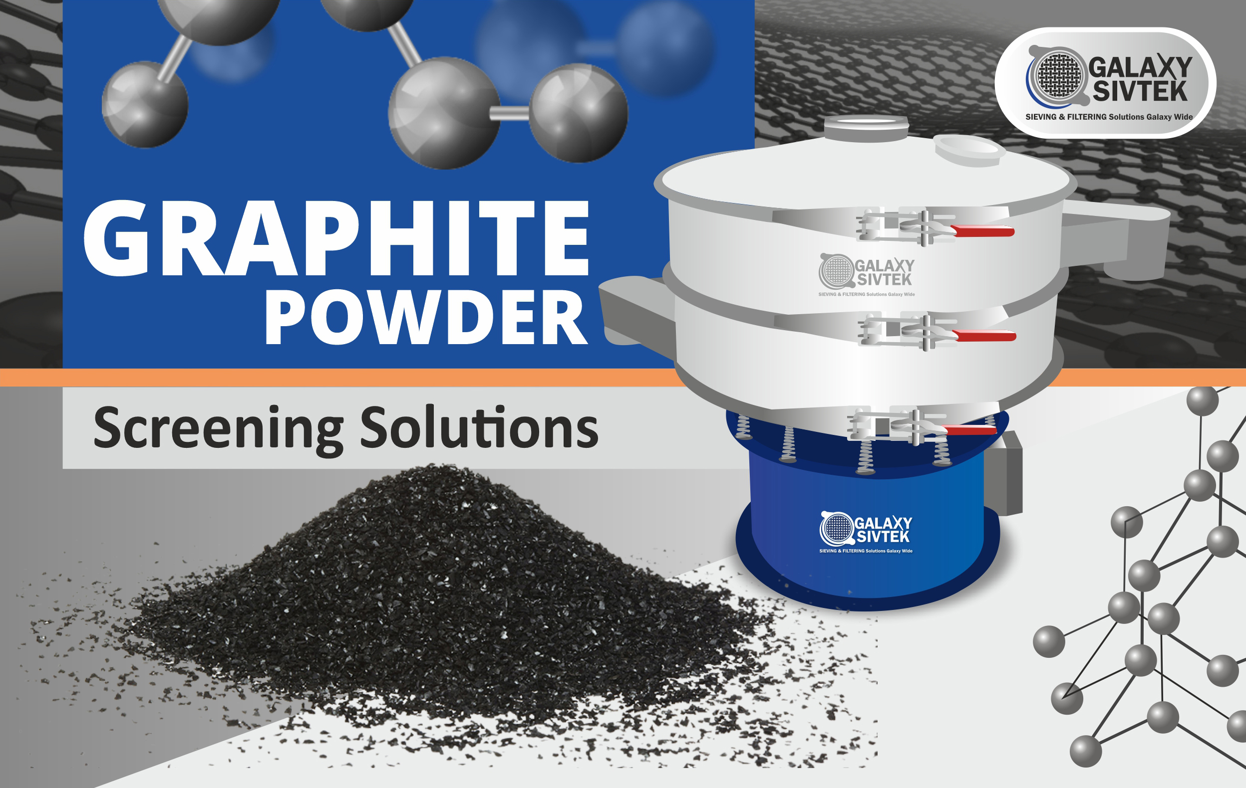Sieving Solutions Graphite Powder