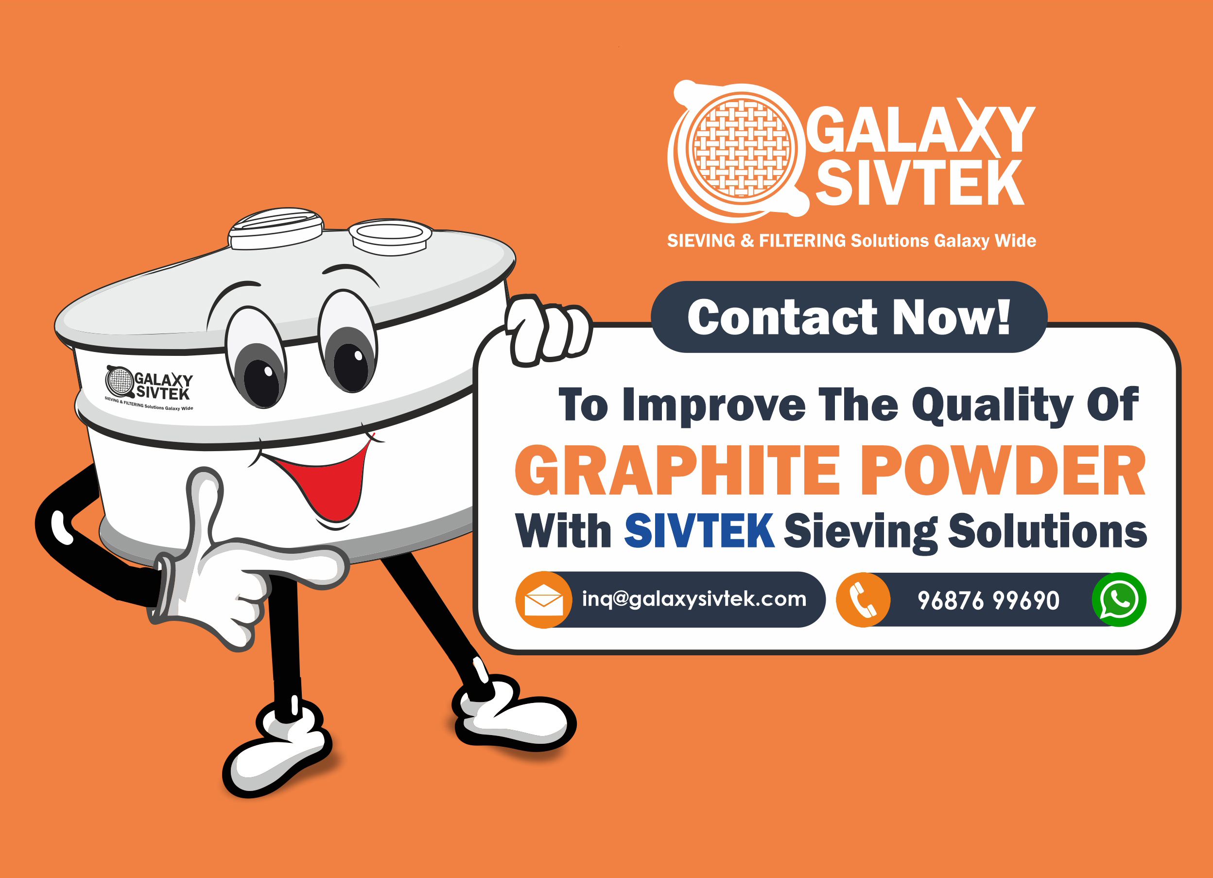 sieving solutions for graphite powder - Contact us now