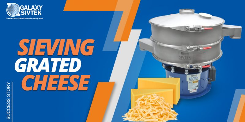 Sieving solution for grated cheese