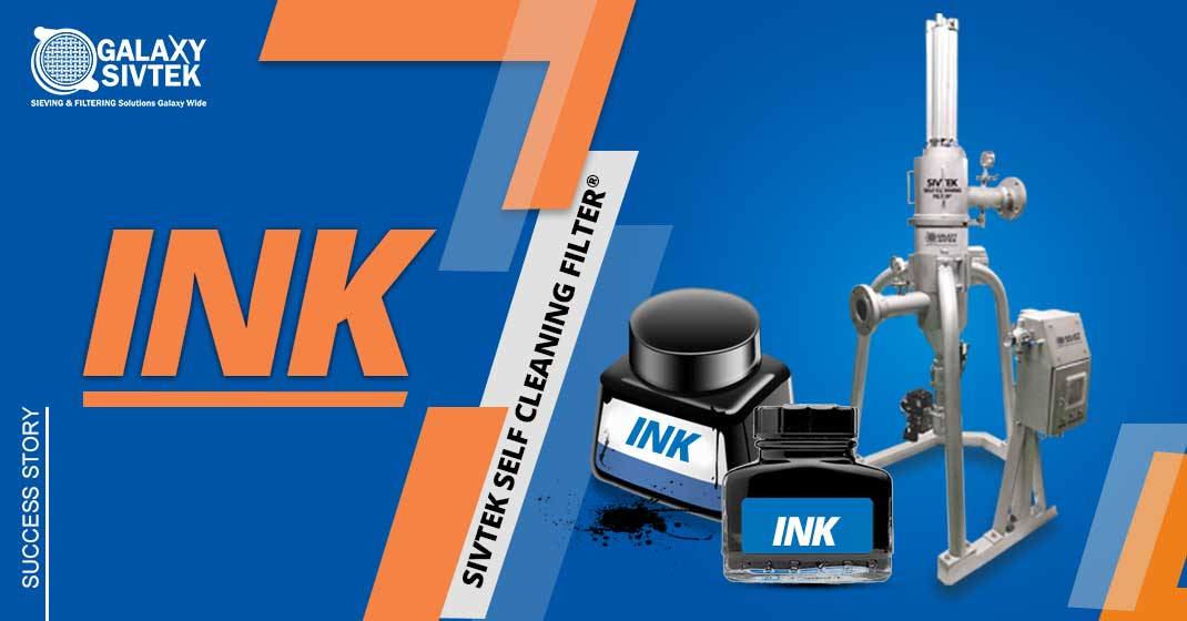 Self-cleaning filtration for Ink