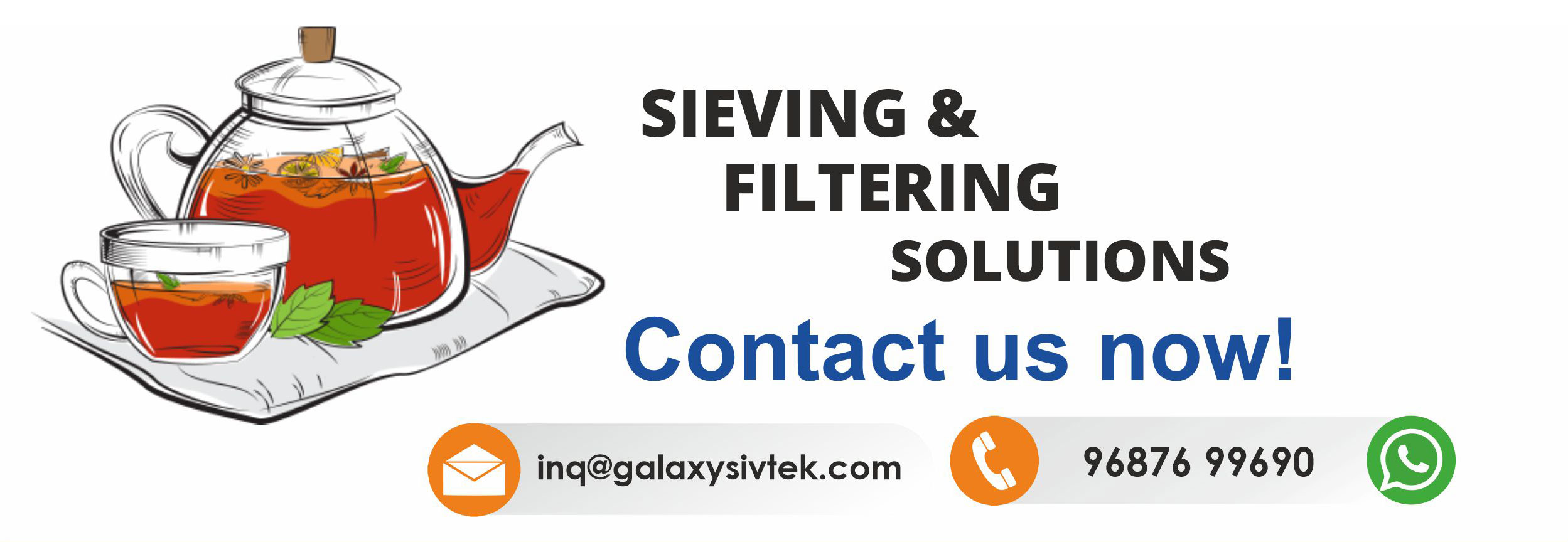 contact galaxy sivtek for sieving & filtration