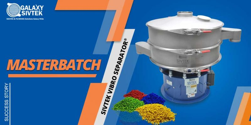 Masterbatch sorting with vibro sifter
