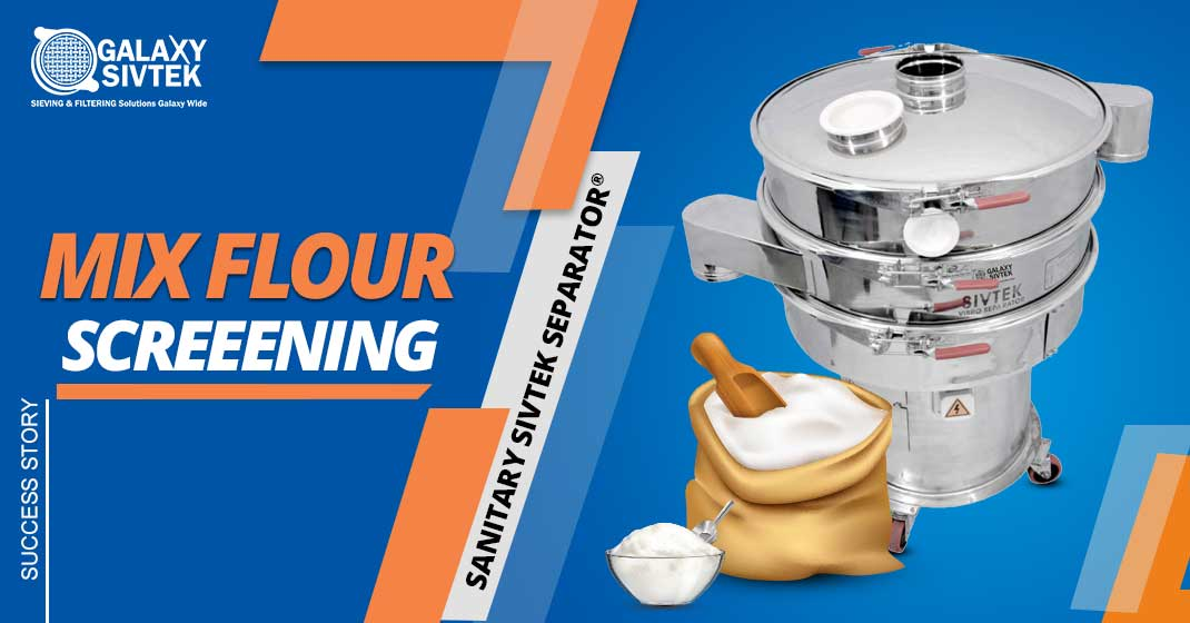 Sieving Mix Flour With Food Sifter