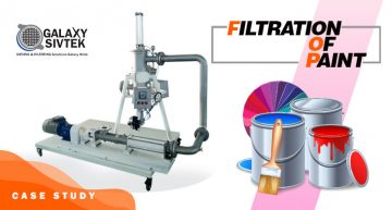 Paint filtration with self-cleaning filter