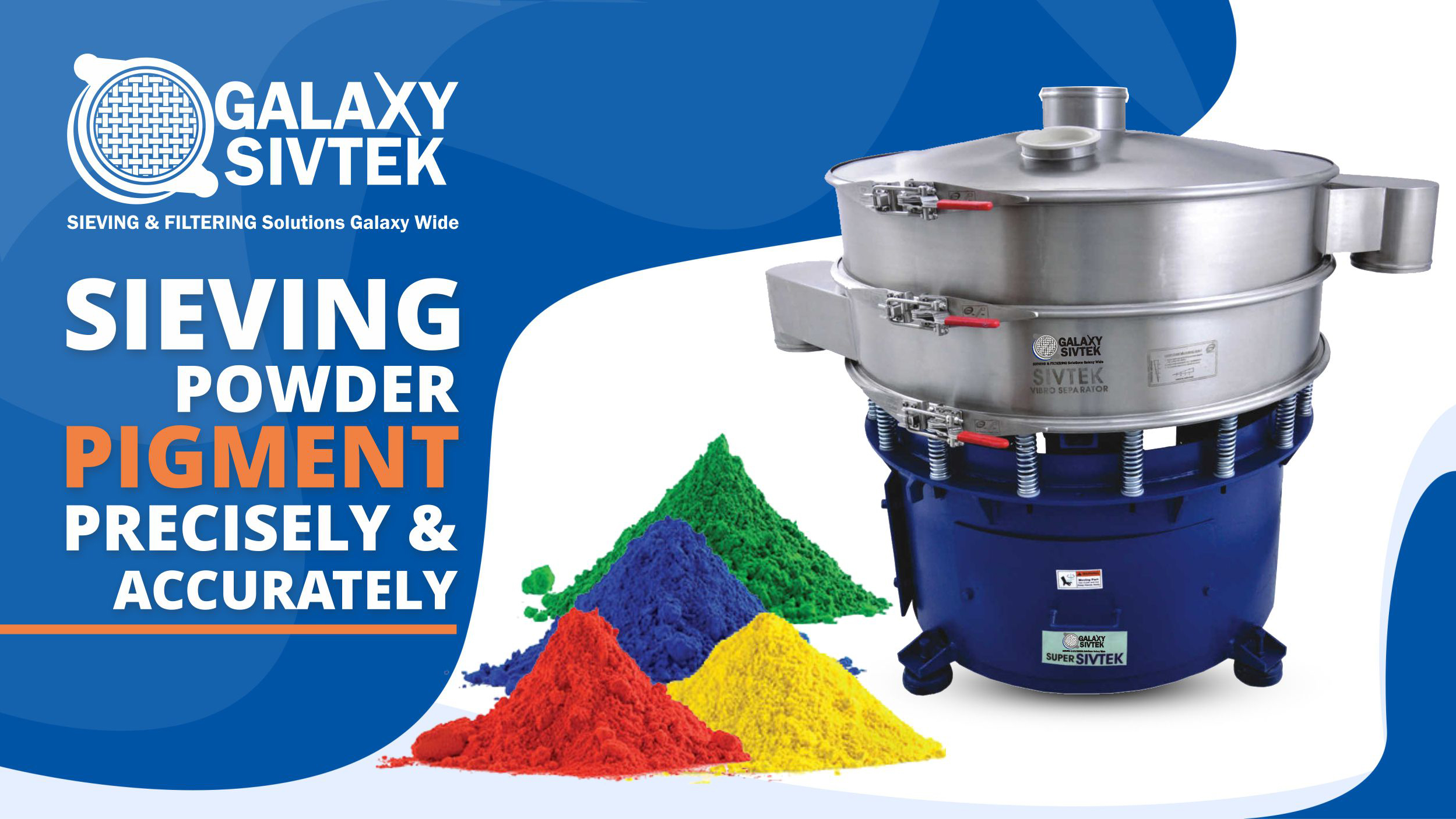 Sieving Pigment with vibro sifter