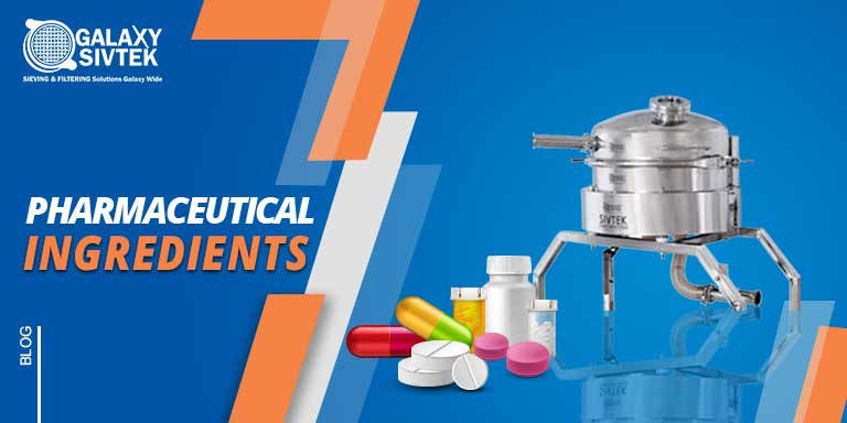 pharmaceutical ingredients sieving