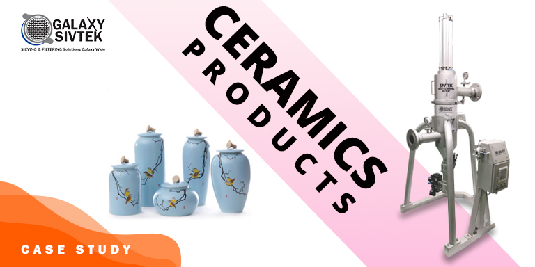 Self-Cleaning Filter for ceramic products