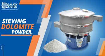 Sieving Dolomite powder with vibro sifter