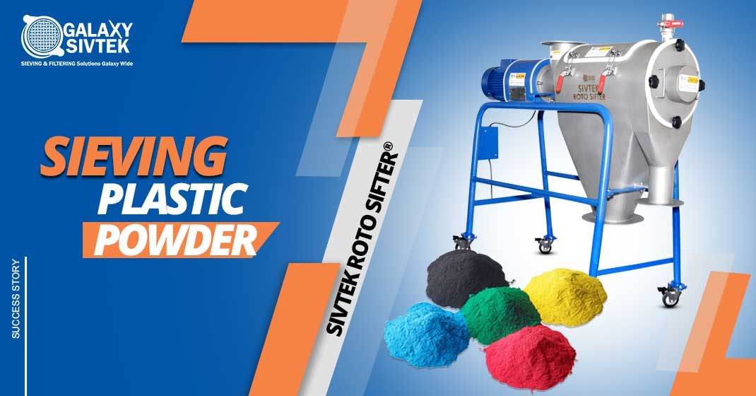 Plastic Powder Screening with vibro sifter