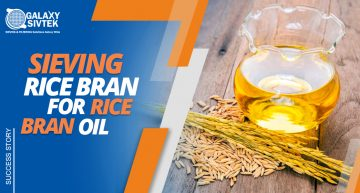 Sieving rice bran