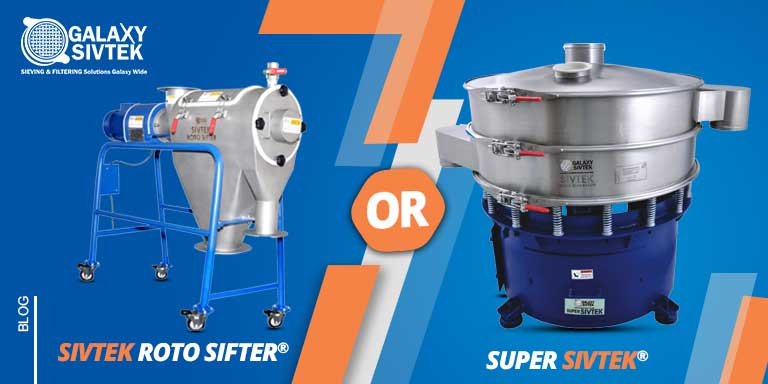 Round sifter vs centrifugal sifter