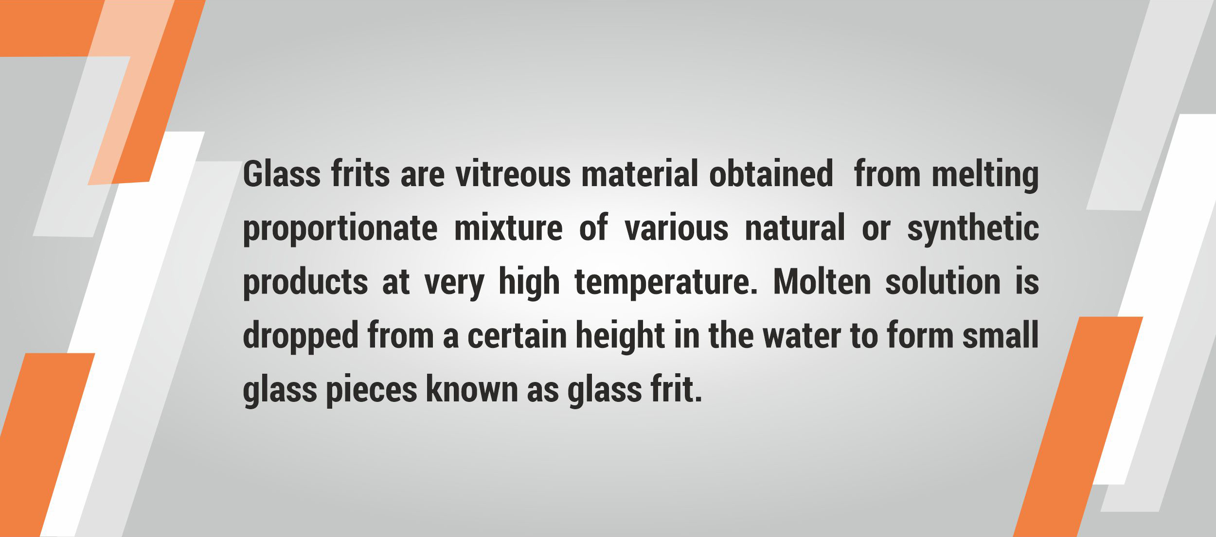 What is glass frit