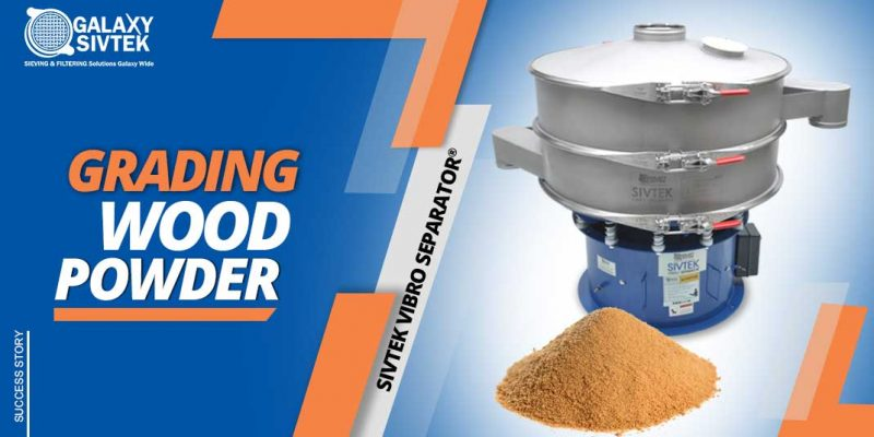 vibro separator for wood powder gradation