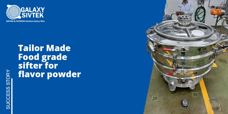 Food sifter with clean in place system for Flavor powder