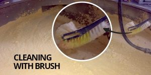 soya lecithin brush cleaning