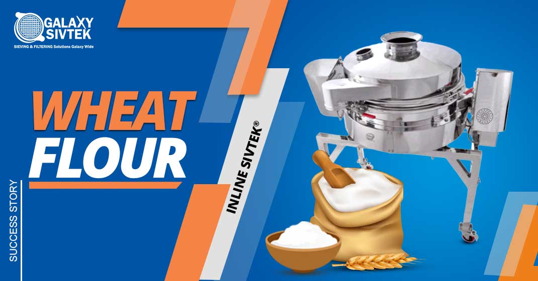 Check screening wheat flour with inline sifter